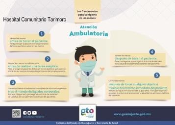 Los 5 momentos del lavado de manos en la atención ambulatoria